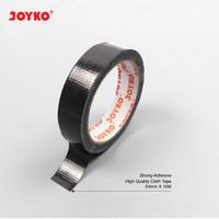 Cloth Tape Lakban Kain Warna Hitam Joyko 24 mm x 12 meter Orange Core