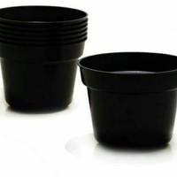 Pot Bunga Plastik 20 cm Pot Hitam Pot Tanaman Pot Plastok 20 cm