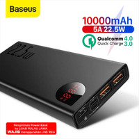 BASEUS ADAMAN FAST CHARGING POWER BANK QUICK CHARGE 4.0 3.0 TYPE C PD - Black 10 000mah