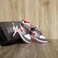 Sepatu Anak Nike Air Jordan Hi Red White Grey Grade Original