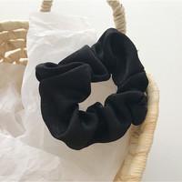 Satin Korean Scrunchie Kunciran Rambut Jumbo Ikat Hairband Hair Tie