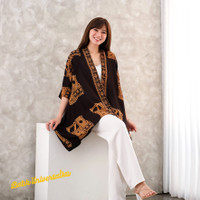 Kimono Outer Batik Asymmetric Cardigan - Kain