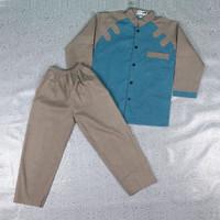 Setelan Koko Anak Usia 4-8 Tahun - Motif1 Grey, S
