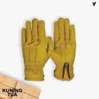 Sarung Tangan Kulit Asli Yellow Armor WJA587 GLOVE LEATHER - S