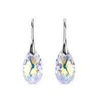 Raindrop Hook Earring - Anting Crystal Swarovski by Her Jewellery