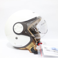 Helm Cargloss Hijab YRH Half Face - Putih