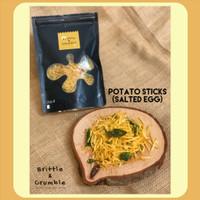 Kripik Keripik Kentang - Brittle Crumble - Potato Sticks Salted Egg