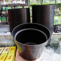 Pot Bunga Plastik 40 cm Pot Hitam Pot Tanaman Pot Plastok 40 cm