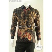 Baju Kemeja Batik Batik Tulis Premium Pria Lengan Panjang Full Furing - LP13281 Size M