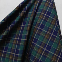 Kain Kotak Semi Wool ( Hijau Coklat Hitam )