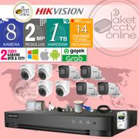 Paket CCTV 8 Kamera Hikvision TurboHD