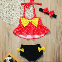 Baju Renang Bayi Baju Renang anak baju renang minnie mouse - 1-2thn