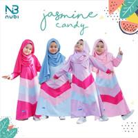 Jasmine Kids Gamis Anak 2 4 6 Tahun Baju Muslim Kaos Anak Perempuan - Magenta, M