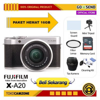 Fujifilm XA20 / X-A20 Kit XC 15-45mm Mirrorless Kamera - Paket 16GB