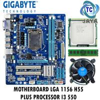 PAKET MOBO LGA 1156 H55 GIGABYTE + Processor i3 550 Dan RAM 2GB