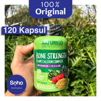 NATURELO Bone Strength 120 Kapsul-Plant Based Calcium Non GMO-Original