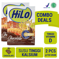 Twin Pack: HiLo Gold Chocolate 750gr- Susu Tinggi Kalsium