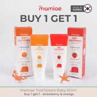 BUY 1 GET 1 Mamiae Baby Organic Toothpaste Odol Organik Flouride Free