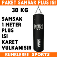 30KG SAMSAK EVERLAST 1M PLUS ISI Karet Sansak Muay Thai Tinju MMA