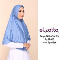 Bergo Jilbab Hijab Instan ZARIA SALWA ELZATTA Original - 706 Coklat Tua