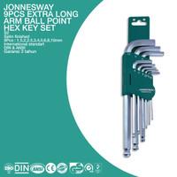 JONNESWAY KUNCI L BULAT/ 9PCS EXTRA LONG ARM BALL POINT HEX KEY SET MM