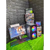 Pc Gaming Core i 7 Ram 16 Gb Vga 4 Gb Monitor 19 inch FULL BARU