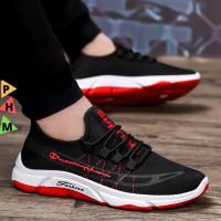 PHM Shoes Sepatu Pria Sneakers Import Sepatu Olahraga Kasual PHM205 - Merah, 44