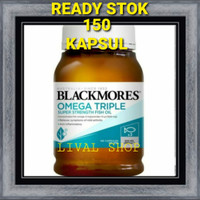 Blackmores Omega Triple Super Odourless Fish Oil 150 Kapsul