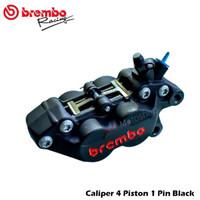 Kaliper Brembo 4P1P Black OriginaL Edition Universal Kanan