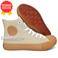 Sepatu Warrior Sparta Gum High Cream / warrior Sparta Gum Cream HC