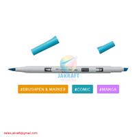 TOMBOW ABT PRO P452 Process Blue Dual Brush Pen Alcohol-Based Marker
