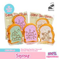 Mini Squishy Mini Poli Toast Fruity by Popular Boxes Original - Hijau