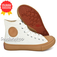 Sepatu Warrior Sparta Gum High Putih / warrior Sparta Gum Putih HC