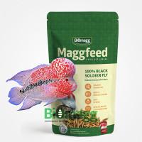 Makanan Pakan Maggot Kering Ikan Louhan Pertumbuhan Jenong Maggfeed