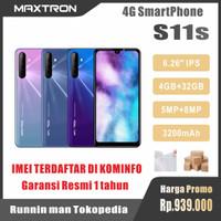 "HP MAXTRON S11s 4G -- HP ANDROID 6,26"" RAM 4GB ROM 32GB - SMARTPHONE W - BLUE-GREY"