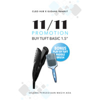 "TUFT BASIC Wet and Dry Straightening Iron 1.5"" 6805 - Catok"