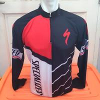 Kaos / Jersey Sepeda Specialized Putih Merah