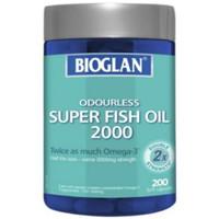 bioglan odourless super fish oil 2000mg 200kapsul