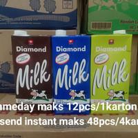 Susu Diamond UHT Low Fat 1 liter - Karton