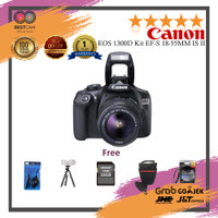 Canon EOS 1300D Kit EF-S 18-55mm IS II - Hitam