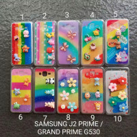 Soft case Samsung J2 prime / Grand prime motif glitter flower softcase