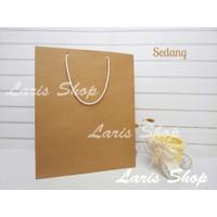 Paperbag Paper Bag Coklat Souvenir Ulang Tahun Kado Goodie Bag Sedang