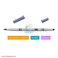 TOMBOW ABT PRO P606 Violet Dual Brush Pen Alcohol-Based Marker