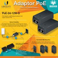 POE Injector Ubiquity POE-24-12W-G PoE 24V DC 12W Gigabit +Kabel Power