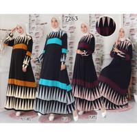 Gamis Dress Baju Muslim Gamis Busui Jumbo Gamis Jersey 6L 7263