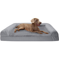 Furhaven Pet - Packable Travel Bed, Plush Orthopedic Sofa, L-Shaped
