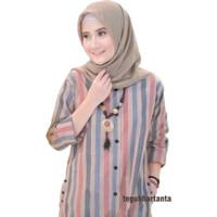 Tunik Ailen Baju Atasan Wanita Fashion Muslim Bahan Katun