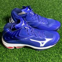 Sepatu volley mizuno original Wave Lightning Z6 Mid reflex blue white