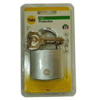 Yale Y120B-50-127-1 High Protection Padlock Solid Brass Silver Gembok