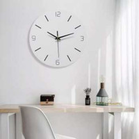 Jam Dinding Bulat Minimalist Nordic Quartz Modern Bergaransi